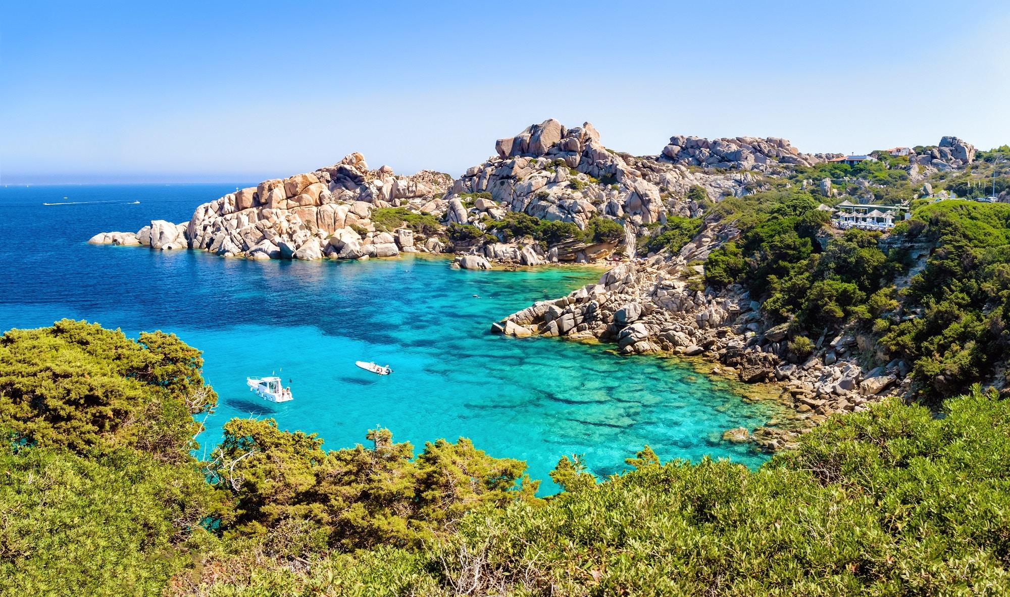 Sardinia's turquoise coastline © mitchFOTO / Shutterstock