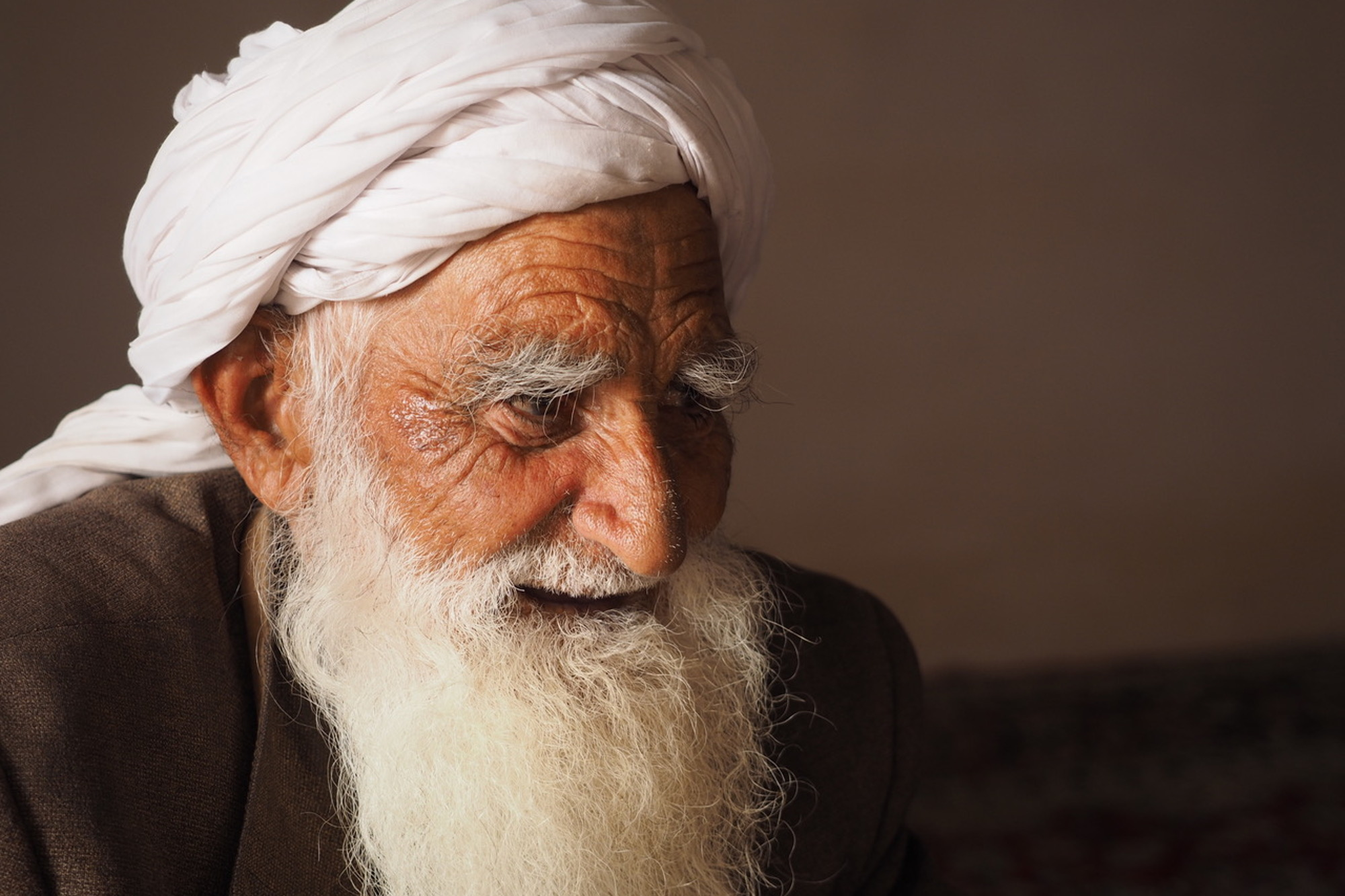 A portrait shot of a Sufi at a mosque from Rob's travels in Herat, Afghanistan © Rob Lendon
