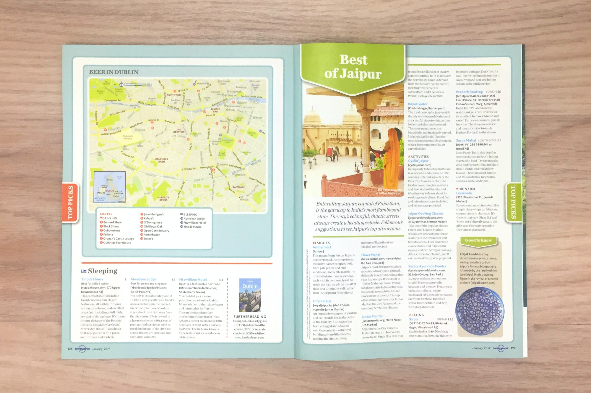 Free mini-guides - Jaipur spread in Lonely Planet Magazine