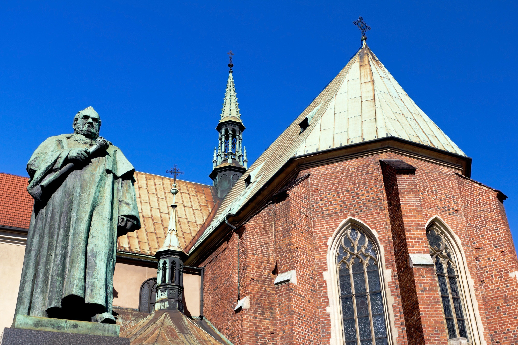 Monument of Dr. Jozef Dietl in Front of St. Francis of Assisi Church, Kraków, Poland