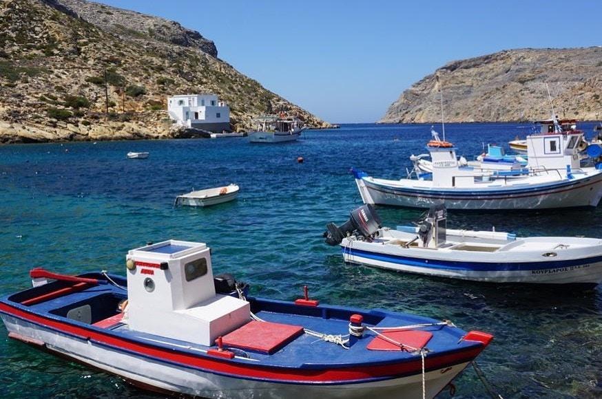 Traditional Greek fishing boats