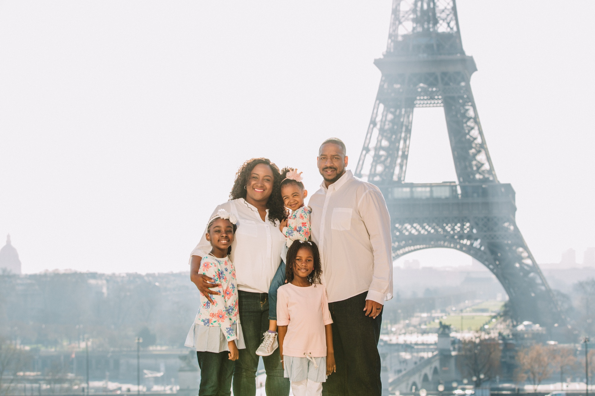 The Spring Break Family in front of the Eiffel Tower, Paris, France © the Spring Break Family