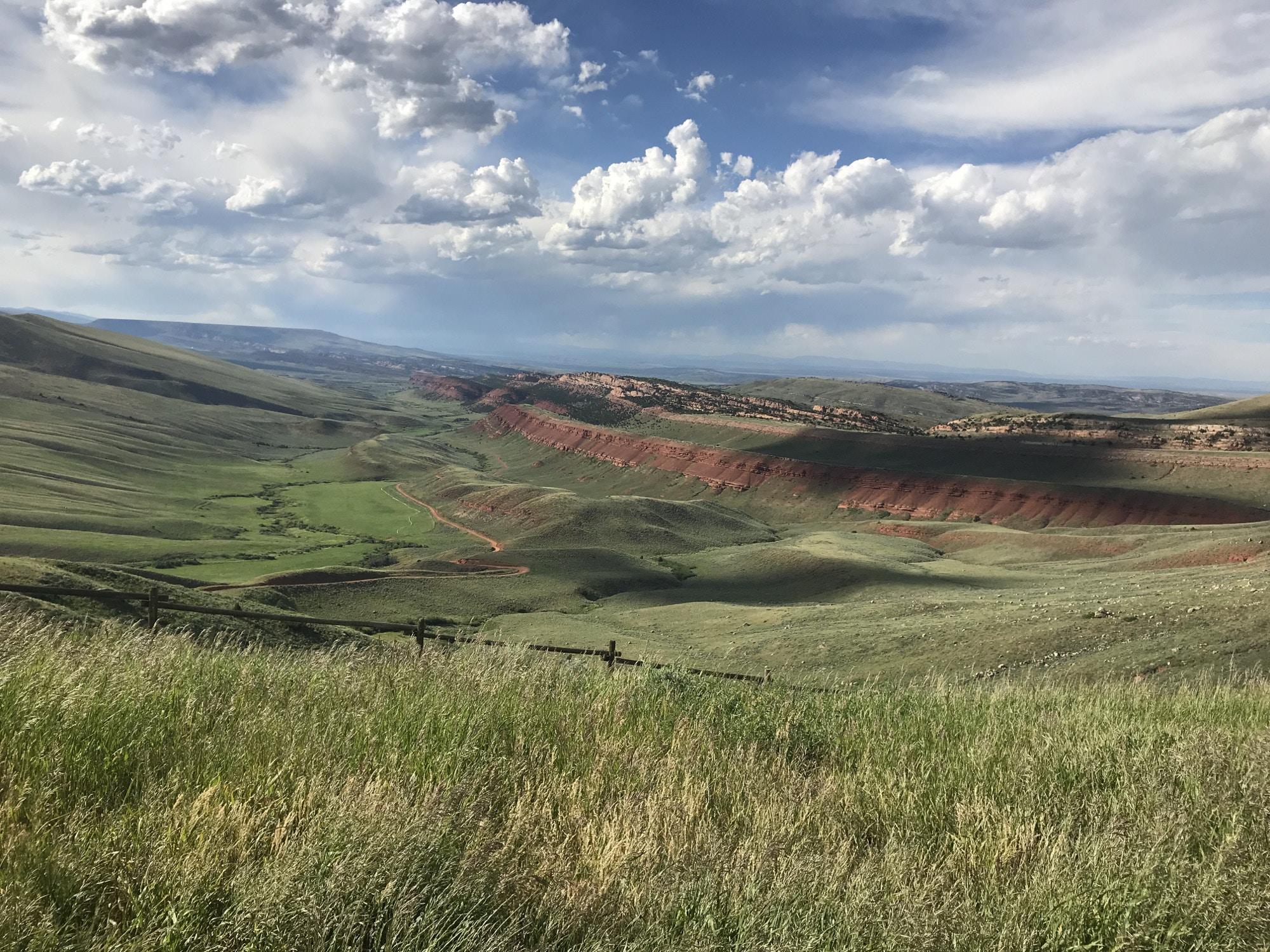 The vast landscape of Wyoming © Hannah Karns