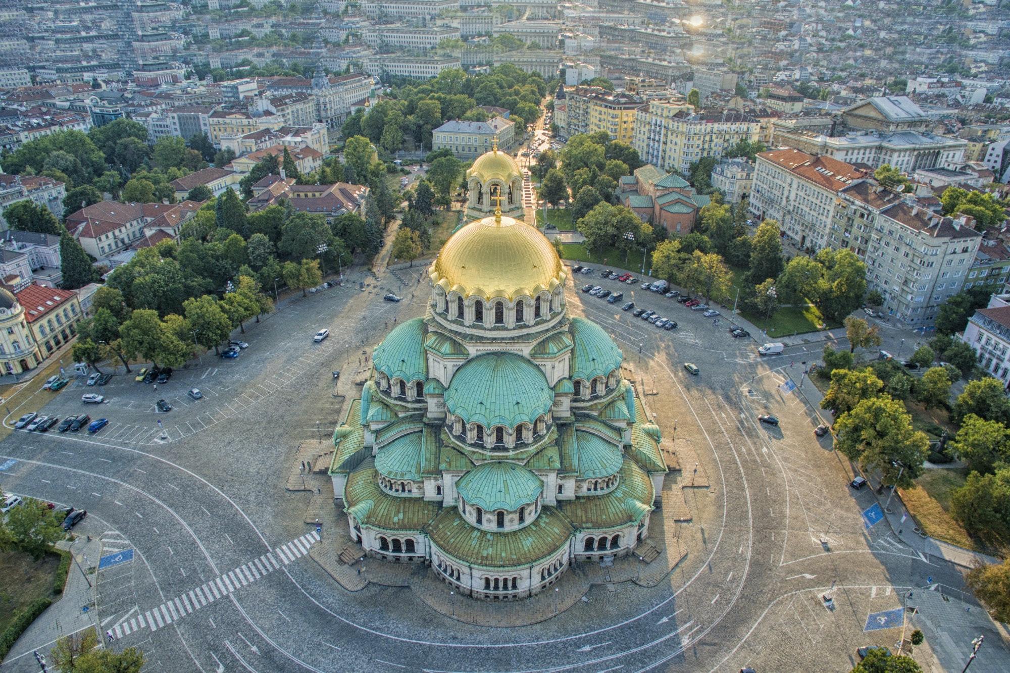 The monumental Aleksander Nevski Cathedral
