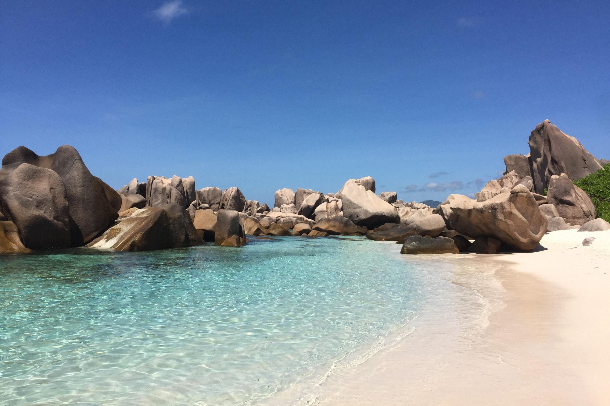 Anse Marron beach, the Seychelles
