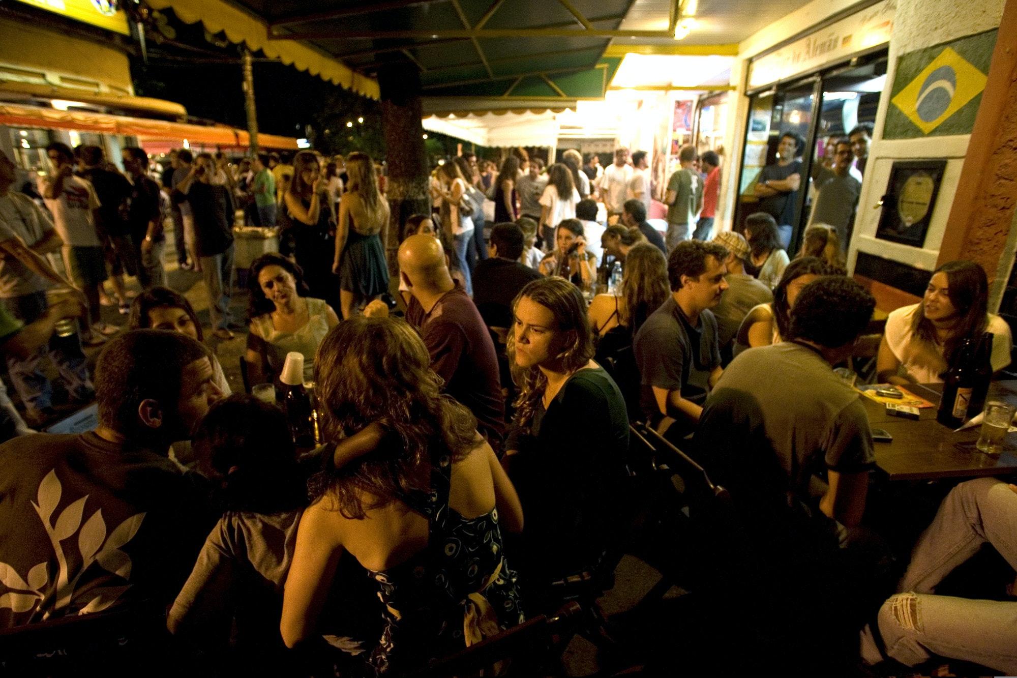Outdoor bars at Baixo Gavea, Rio de Janeiro