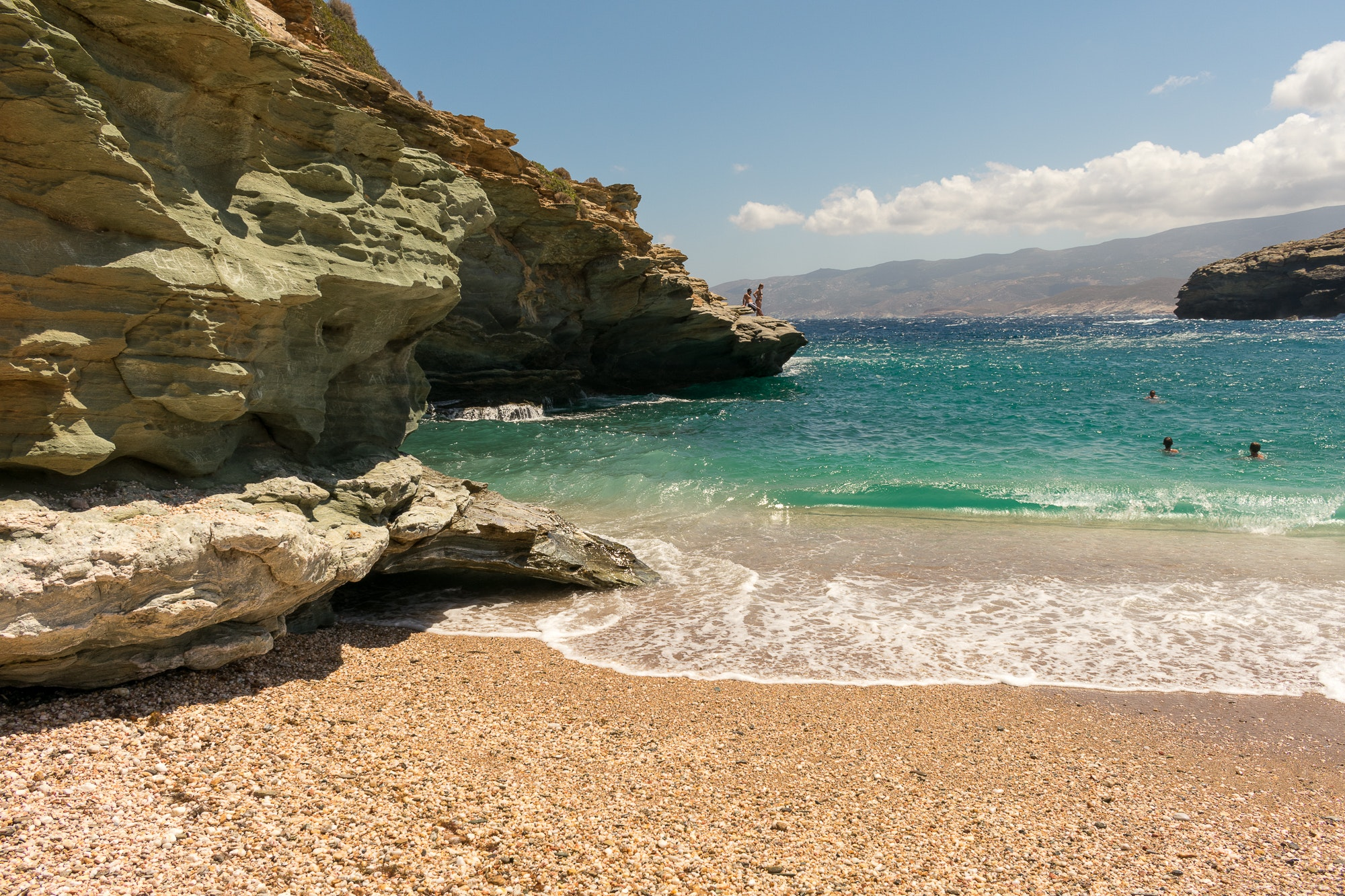 Andros in Greece is one of Maria and Katerina's top choices for an island escape