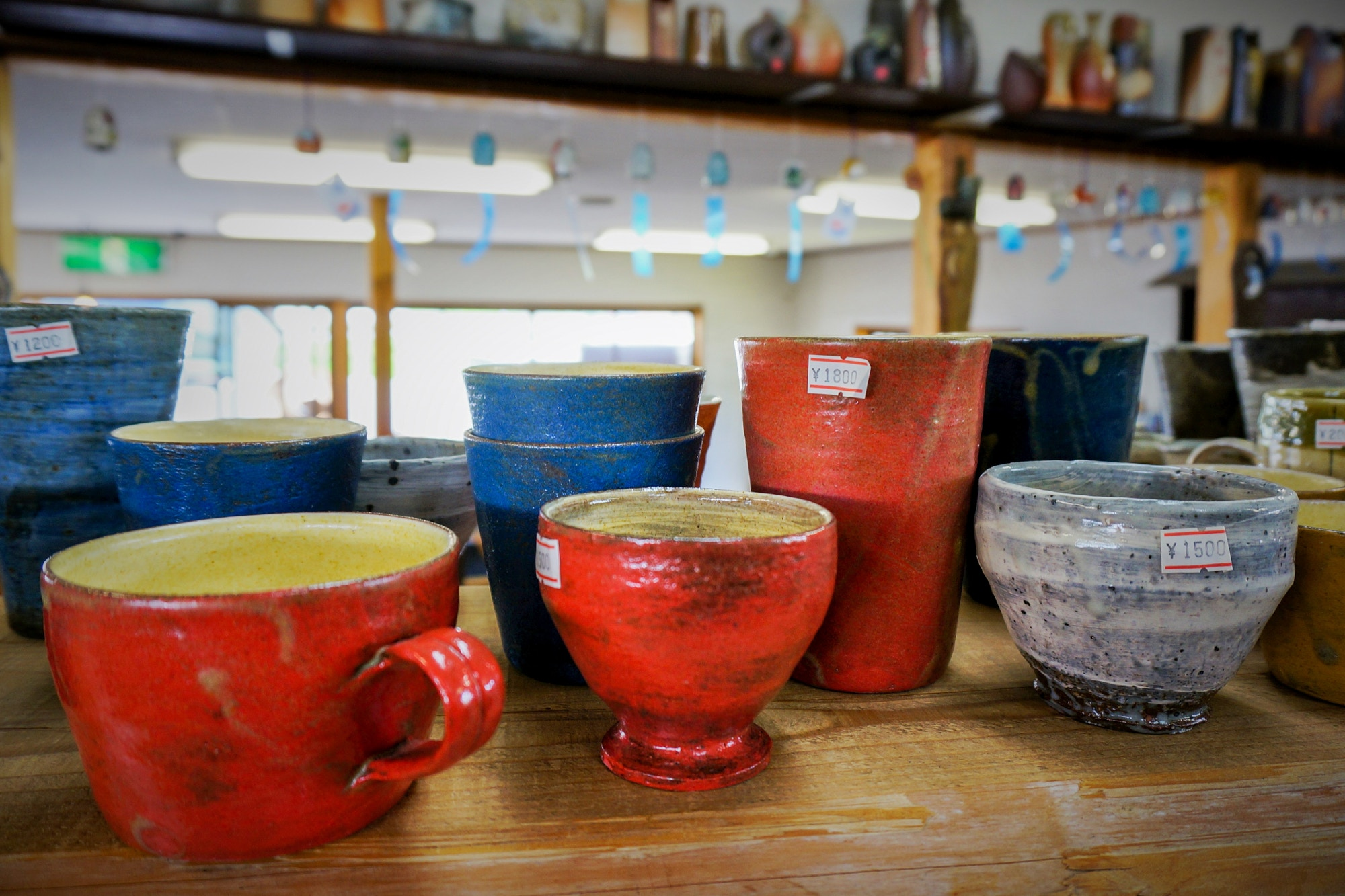 Pottery on sale in the village of Shigaraki