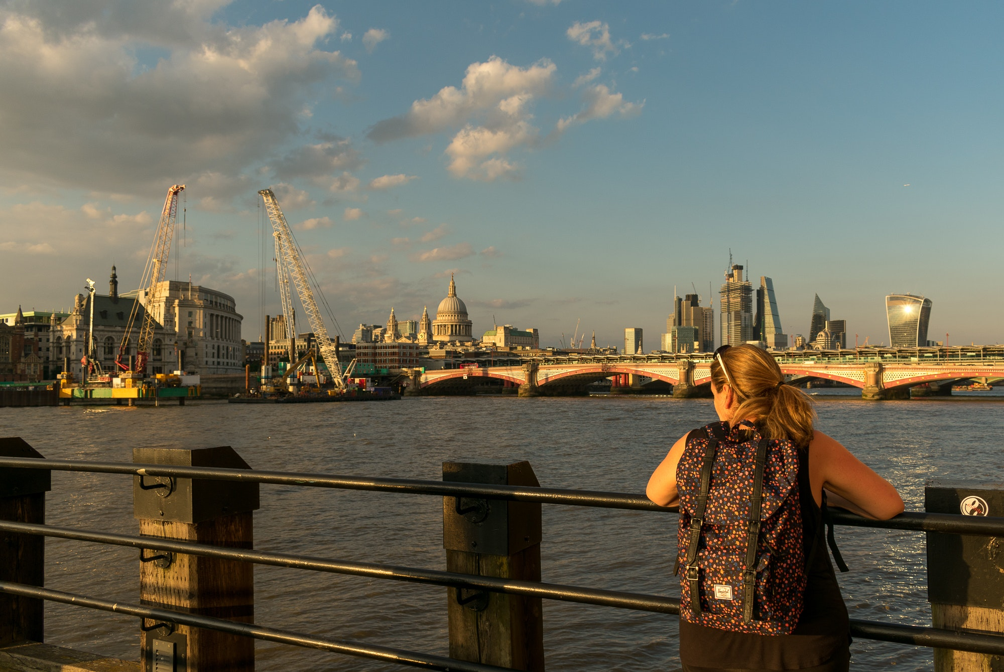 Catching the sunset in London