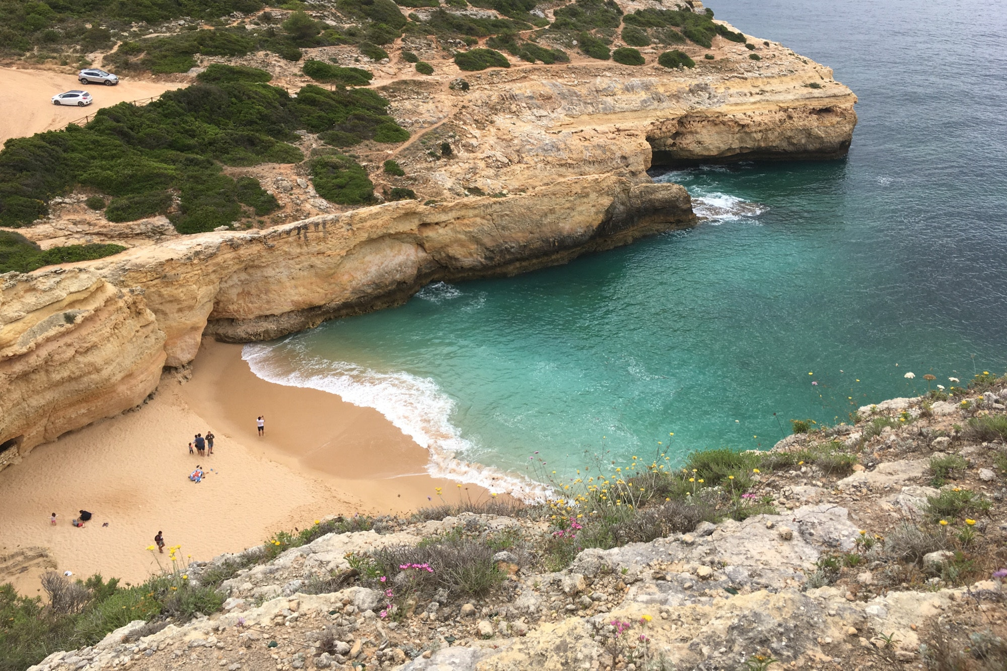 A secluded beach in Portugal