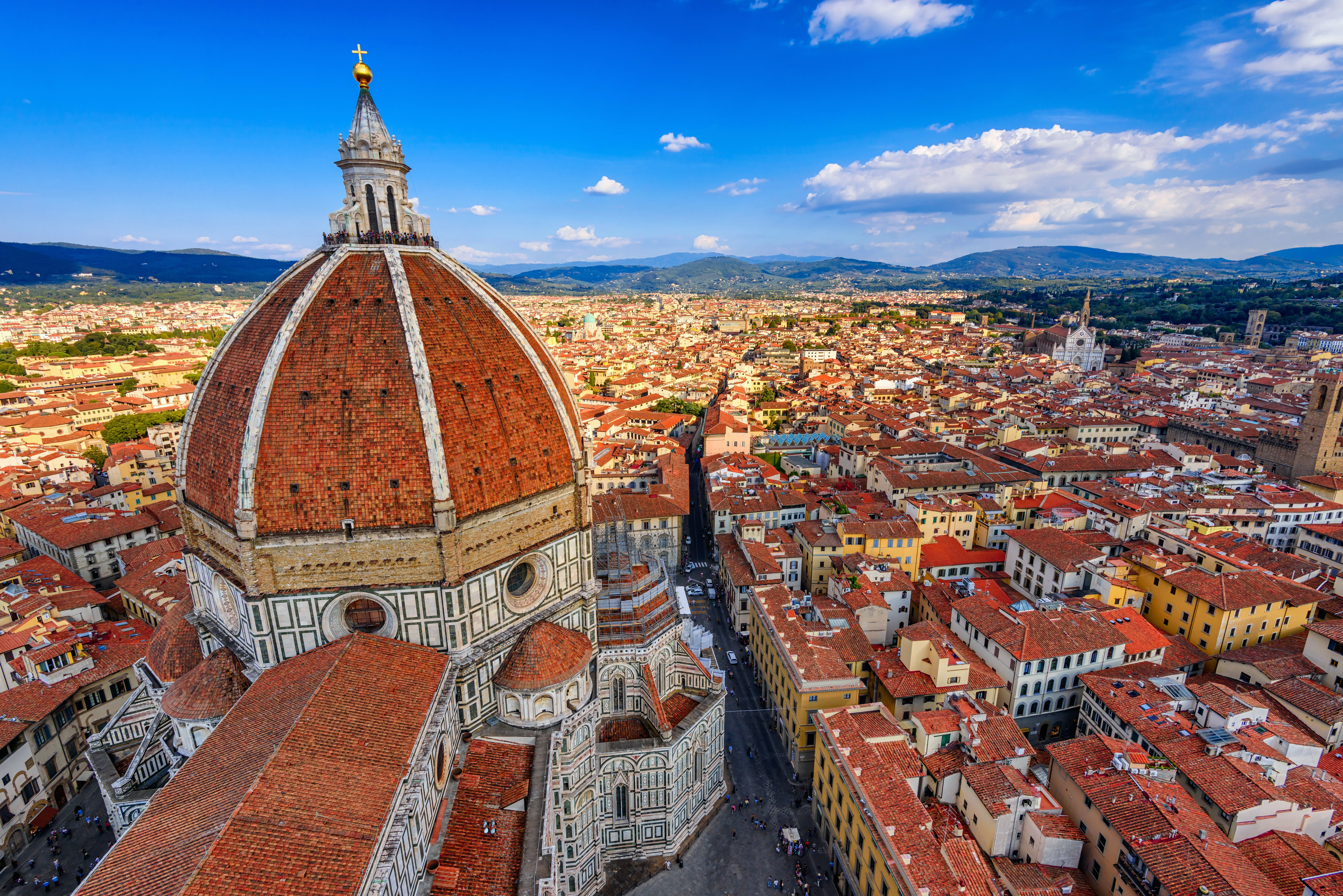The skyline of Florence, Italy, dominated by the Basilica di Santa Maria del Fiore (Basilica of Saint Mary of the Flower)