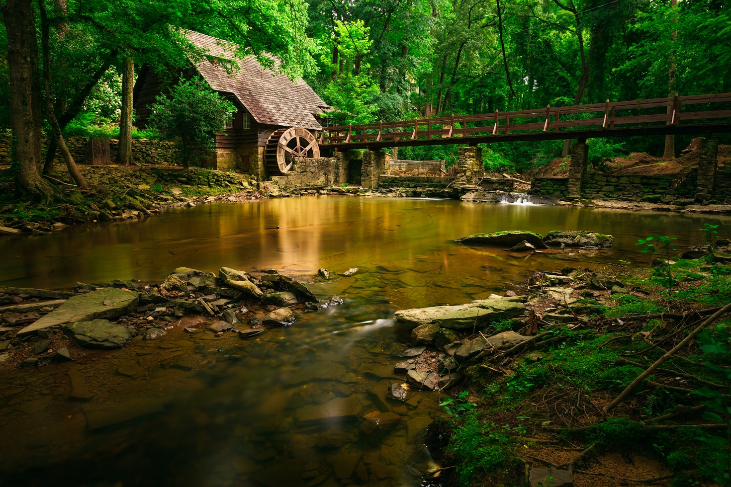 An old mill in Mountain Brook, a suburb of Birmingham Alabama © Robbie Brewer / 500px