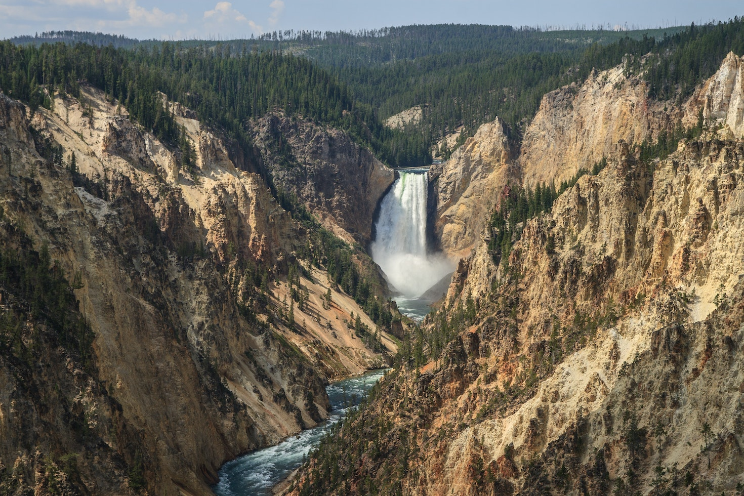 Lower Falls from above in Yellowstone National Park © Brian Milner / 500px
