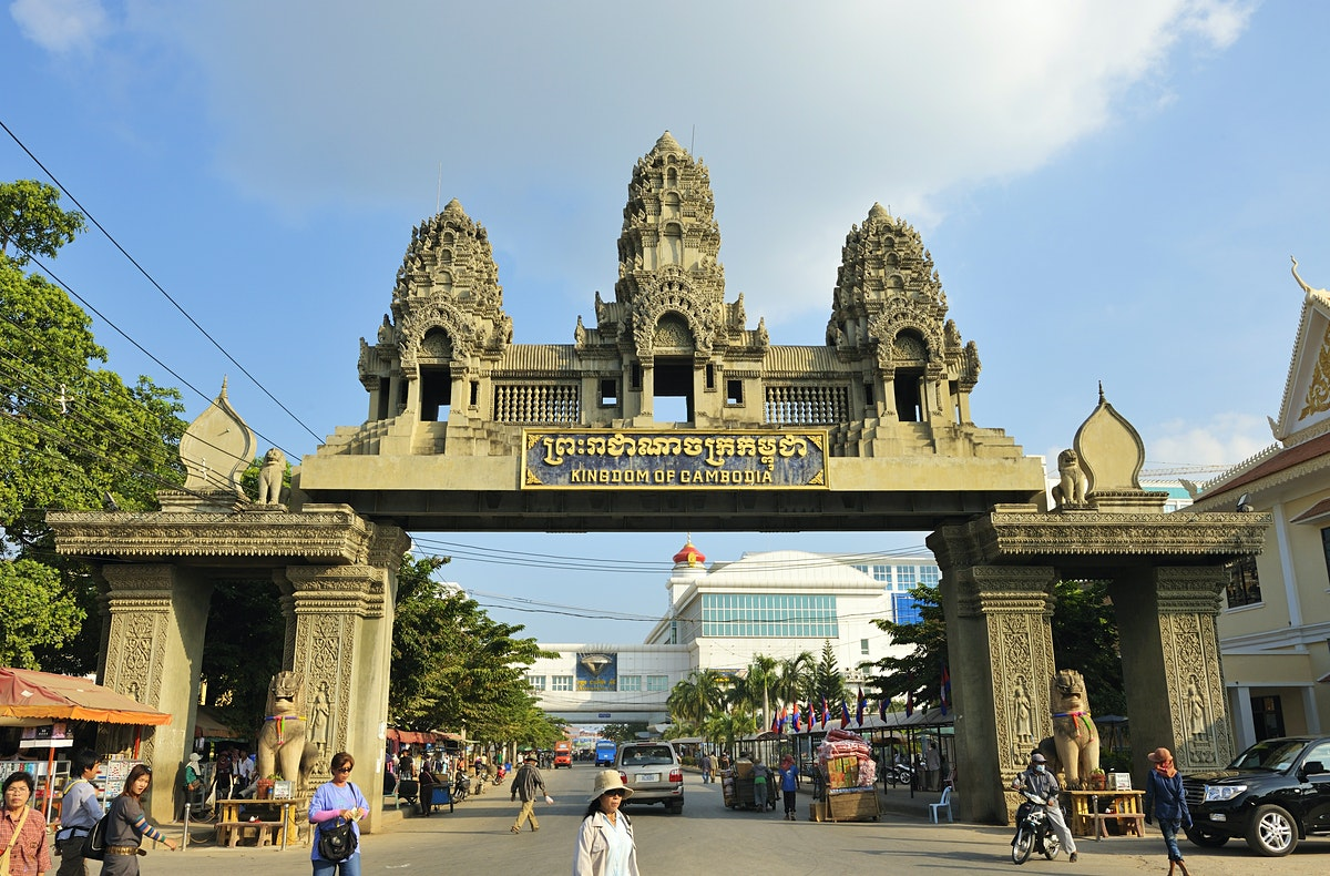 Cambodia and Thailand boarder - Poipet