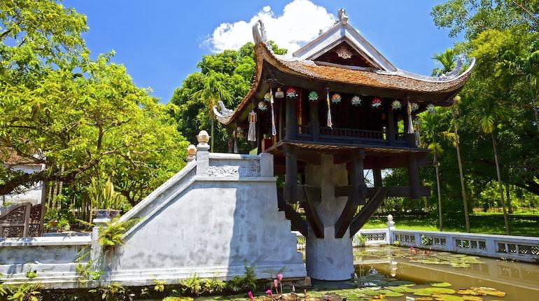 Kết quả hình ảnh cho One Pillar Pagoda