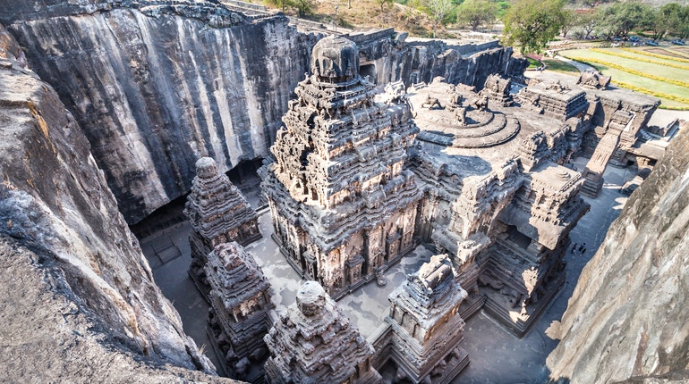 Image result for Kailasa temple, Ellora