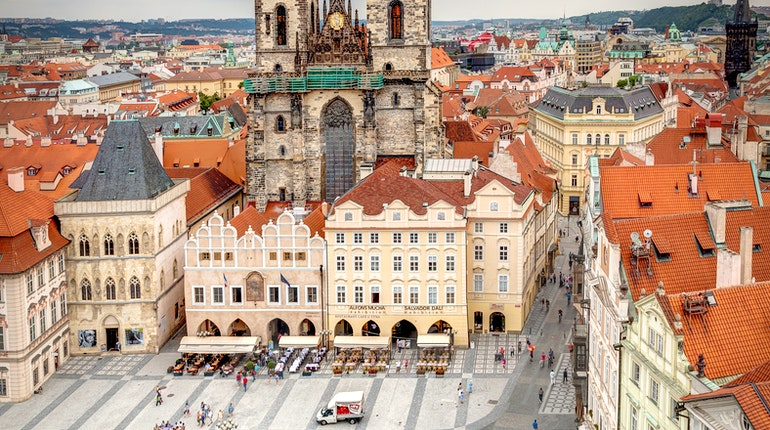 genius of the european town square This self-guided walking tour of prague goes from charles bridge to old town square.